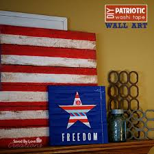 Easy Mini Pallet Patriotic Canvas Art