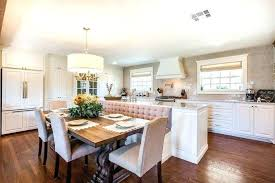 Kitchen Table With Booth Seating Fixer Upper Dining Designed The Island