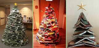 Christmas Tree Books Diy by Top 8 Unusual Christmas Tree Ideas So Creative Things Creative