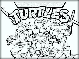 Free Mutant Ninja Turtles Coloring Sheet