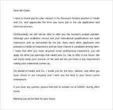 Sample Rejection Letter After Interview 9 Download Free Documents