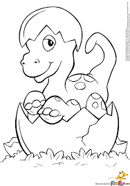 Hatched Baby Dino Coloring Page