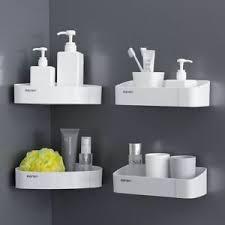 details zu badezimmer wand regal plastik aufbewahrung organizer drain halter für toiletries