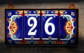 custom hand glazed 2 digit talavera tile house numbers 70 00