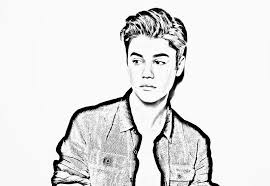 Coloring Pages Justin Bieber Printable