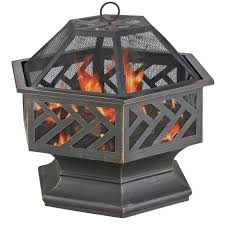 articles with uniflame ceramic tile hexagon propane gas pit
