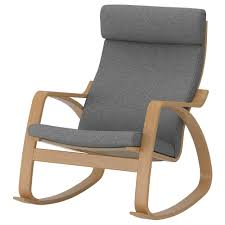 POÄNG Rocking-chair - Oak Veneer, Lysed Grey - IKEA