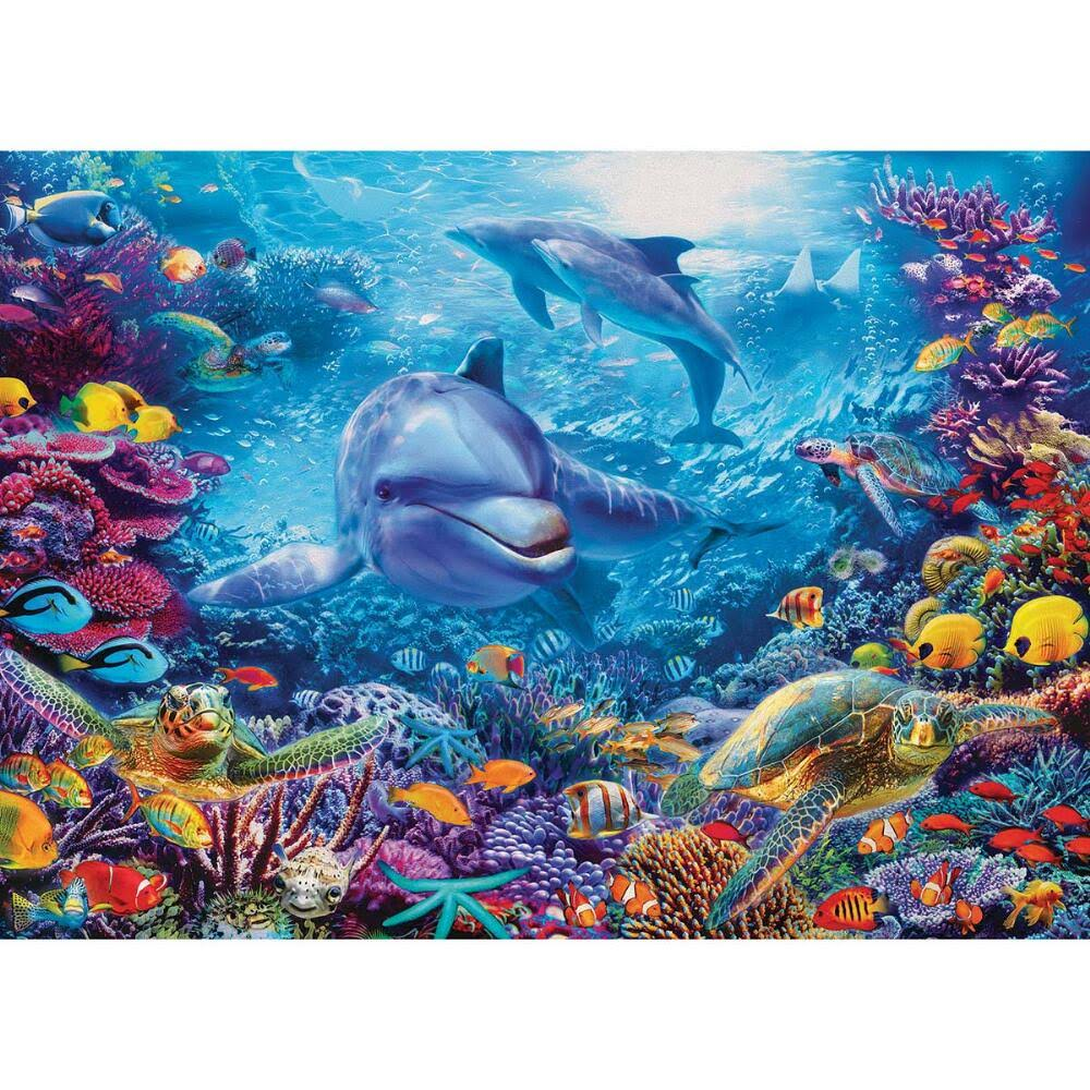Cobble Hill Dolphins at Play Jigsaw Puzzle