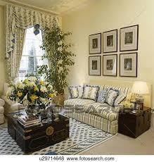 gesellschaft bilder mauer oben gestreift sofa in