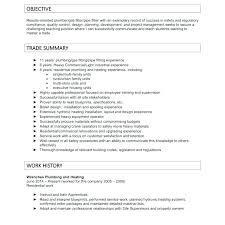 Plumbers Helper Plumber Resume Apprentice Template Plumbing Objective Examples Free Supervisor Assistant Writing