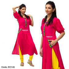 Colorful Stylish Kurta Dresses For Women By Pinkstich Collection 2015 2016 16