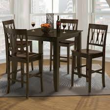 New Classic Style 19 Small Counter Height Table And Abbie All Wood Chair Set