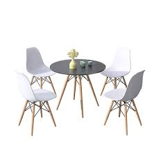 Round/Rectangular Dining Table And Chair Set 2/4/6 Eiffel Retro Style Small  Round Table Chair With Wood Leg For Dining Room Kitchen Furniture (black ... Coaster Cleveland 5pc Oval Retro Ding Table Set In Whitechrome 3925 White Metal Tulip Outdoor Kitchen And Chairs Wooden Garden Chair 42 Extraordinary Room Zinc Small Lewis Gumtree Winsome Details About Industrial Rectangle Oak Vintage Leather Spring Colorful Amazing 3 Pcs And Frame Walnut Black Sets Legs Menards Base Dinette Home Glass Top Only An Argos Ideas John Tables Round Chrome Ipirations 1950s