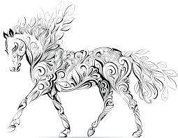 Realistic Horse Coloring Pages In Carriage Page Fresh