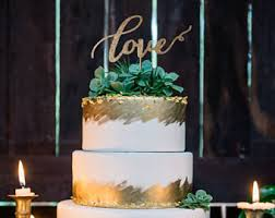 Love Wedding Cake Topper Rustic Toppers