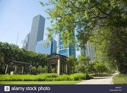 ILLINOIS Chicago Sidewalk in Cancer Survivors Garden in Grant Park