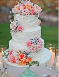 Romantic Mint And Pink Wedding Cake