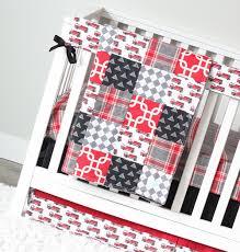 100 Fire Truck Bedding Truck Crib Set Red Black Grey Baby Boy Etsy