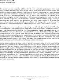100 Lawrence Scarpa FAIA Principal Brooks PDF