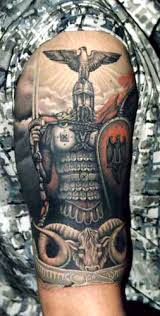 Traditional Viking Tattoo On Sleeve Photo