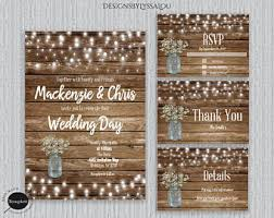 Rustic Wedding Invitation Country Template You Edit