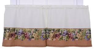 amazon com ellis curtain kitchen collection tuscan hills grapes