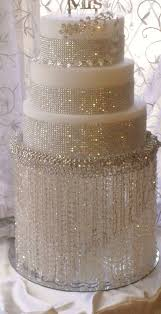Beautiful White Wedding Cakes With Bling 10