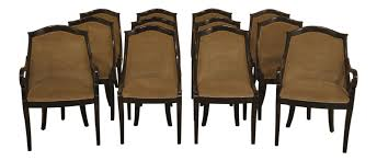 Details About L48046EC: Set Of 12 Custom Upholstered Regency Crewelwork  Back Dining Chairs