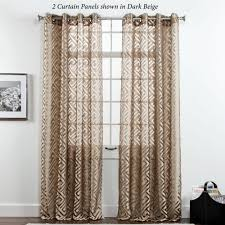 Sheer Curtain Panels With Grommets by Corfu Greek Key Sheer Grommet Curtain Panels