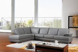Grey Leather Sectional Living Room Ideas by Furniture Luxury Grey Leather Sectional For Elegant Living Room