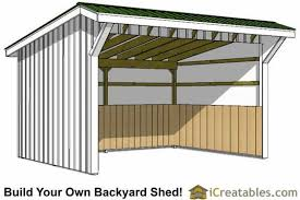 12x16 run in shed plans shed pinterest horse horse shelter