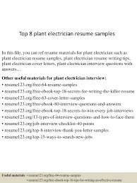 Top 8 Plant Electrician Resume Samples Guide Electrician Resume Samples 12 Examples Pdf Unbelievable Sample Canada Electrical Apprentice Best Of Journeymen Electricians Example Livecareer 10 Apprentice Electrician Resume Examples Cover Letter The Samples Menu Or Click Here To Order Your New New Templates Visualcv Industrial And For 2019 Licensed Velvet Jobs