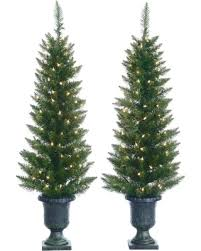 4 Ft Pre Lit Christmas Tree by Winter Sale 4ft Pre Lit Artificial Christmas Tree Porch Pot Cedar