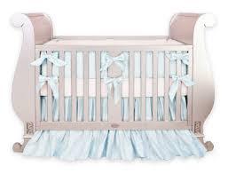 silk baby blue crib bedding set little crown interiors