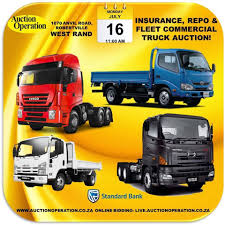 100 Bank Repo Trucks Auction Operation TRUCK AUCTION ON MONDAY 16 JULY Insurance