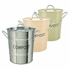 details zu eddingtons edelstahl küche kompost eimer abfalleimer w deckel abnehmbare eimer