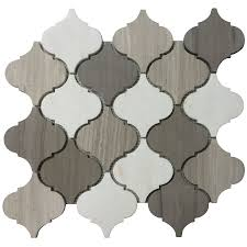 Lowes Canada Bathroom Floor Tile by Accent Tile Faber 13 In Marble Mosaic Polished White And Black