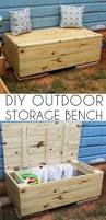 Outdoor Storage Bench Build by Storage For Pool Easy To Build I Think The Bottom Would Have