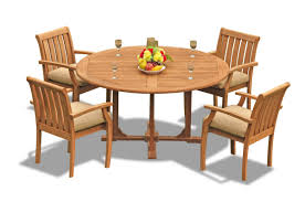 Teak Smith: 5 Pc Grade-A Teak Wood Outdoor Dining Set - 60
