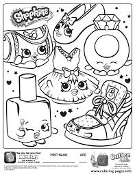 Free Shopkins New Coloring Pages