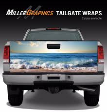 Beach Ocean Waves Truck Tailgate Vinyl Graphic Decal Wrap | EBay 2014 15 16 Toyota Tundra Stamped Tailgate Decals Insert Decal Cely Signs Graphics Michoacan Mexico Truck Sticker And Similar Items Ford F150 Rode Tailgate Precut Emblem Blackout Vinyl Graphic Truck Graphics Wraps 092012 Dodge Ram 2500 Or 3500 Flames Graphic Decal Fresh Northstarpilatescom Dodge Ram 4x4 Tailgate Lettering Logo 1pcs For 19942000 Horses Cattle Amazoncom Wrap We The People Eagle 3m Cast 10