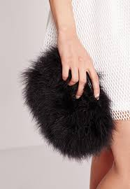 black feather clutch bag missguided