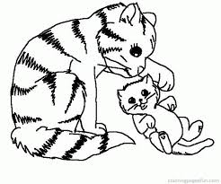 Kitten And Puppy Coloring Pages To Print