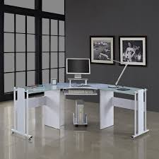 Glass And Metal Corner Computer Desk White by The 25 Best Glass Corner Desk Ideas On Pinterest Modern Corner