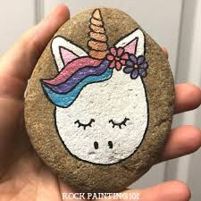 Unicorn Rocks How To Draw A On Rock Step By Instructions