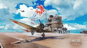 fonds d ecran 2048x1152 war thunder avions porte avions ciel nuage
