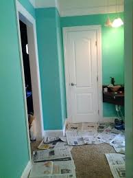 Valspar Bedroom Colors Single Coat Over Chocolate Brown Wall Dive In Color Paint Turquoise