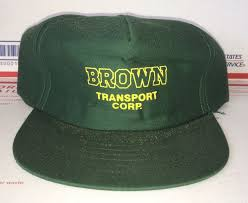 100 Vitran Trucking BROWN Transport Corp Company Hat Vtg Foam Sierra