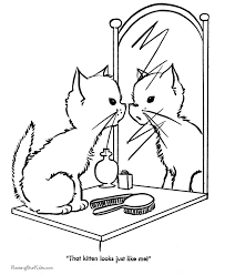 Free Printable Cute Kitten Coloring Page