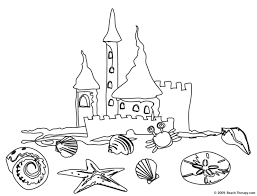 Free Coloring Pages Of Sandcastle